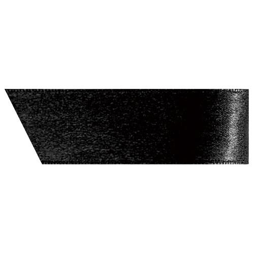 ヘッズ 片面サテンリボン 幅19mm×20m ブラック 1990R 1巻