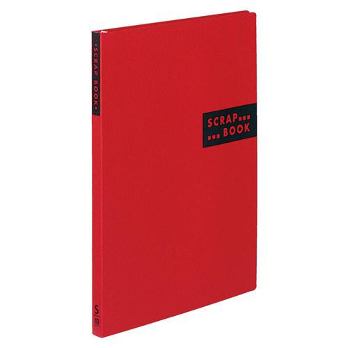 コクヨ スクラップブックS(スパイラルとじ・固定式) A4 中紙40枚 背幅20mm 赤 ラ-410R 1冊