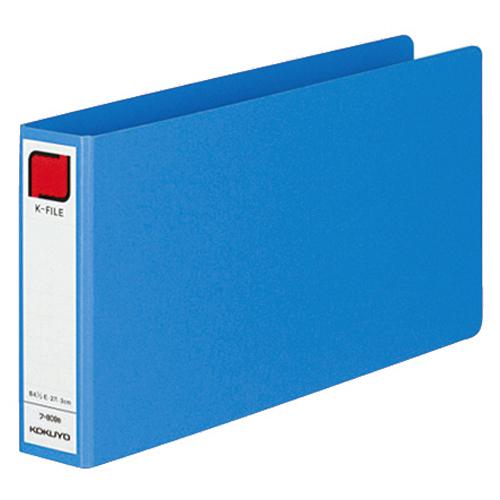 コクヨ 統一伝票用Kファイル B4・1/3ヨコ 300枚収容 背幅42mm 青 フ-809B 1冊