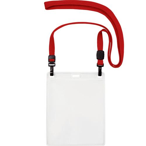 オープン工業 吊下げ名札 ダブルフック式 イベントサイズ 赤 NL-17-RD 1パック(10個)