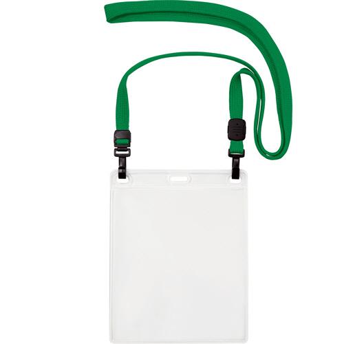 オープン工業 吊下げ名札 ダブルフック式 イベントサイズ 緑 NL-17-GN 1パック(10個)