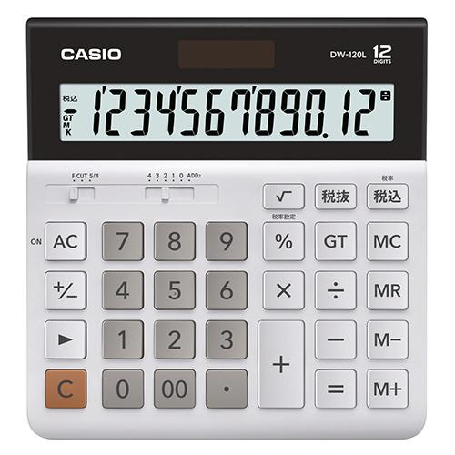 カシオ 横型電卓 12桁 DW-120L-N 1台