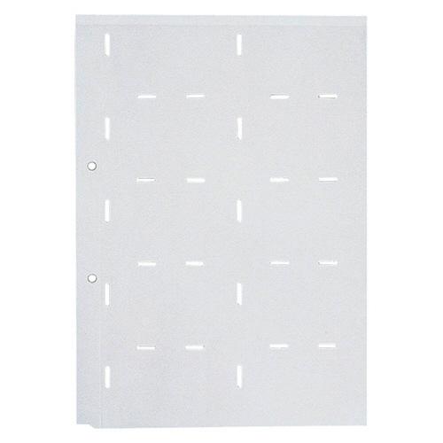 キングジム 名刺ホルダー台紙 A4タテ 2穴 両面20ポケット タテ入れ グレー 89D 1パック(10枚)