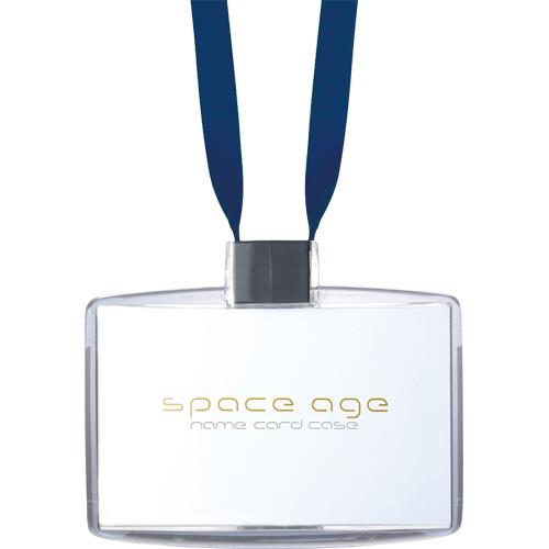 ソニック space age ネームカードホルダー 名刺サイズ ブルー EX-2604-B 1個