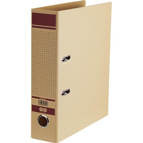 TANOSEE 保存用レバー式アーチファイル A4タテ 背幅77mm 赤 1冊