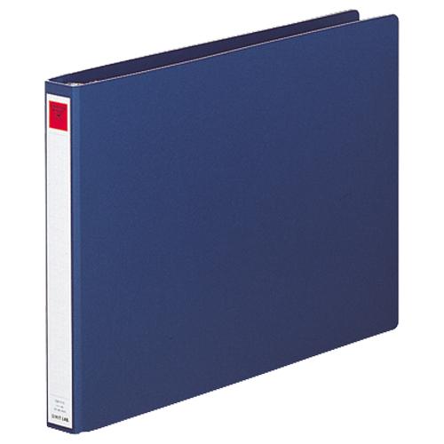 リヒトラブ コンピューターバインダー キャップ式 T11×Y15インチ・ヨコ型 22穴 280枚収容 藍 C8-1115 1冊