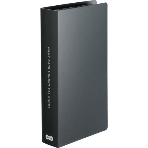 TANOSEE 名刺ホルダー 固定式 コンパクト 240名用 ヨコ入れ ブラック 1冊