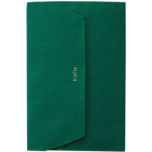 マルアイ Kalis ブックカバー 文庫本サイズ グリーン KA-BCG 1枚
