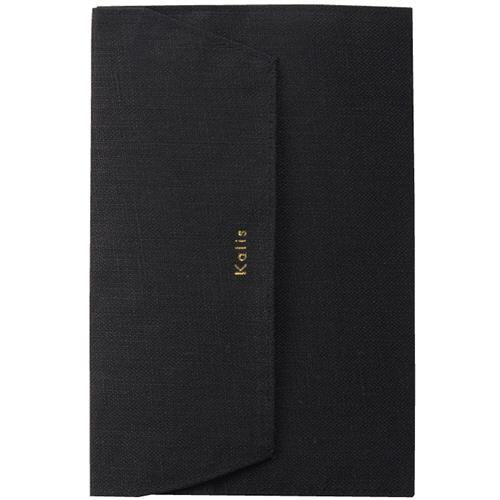 マルアイ Kalis ブックカバー 文庫本サイズ ブラック KA-BCD 1枚