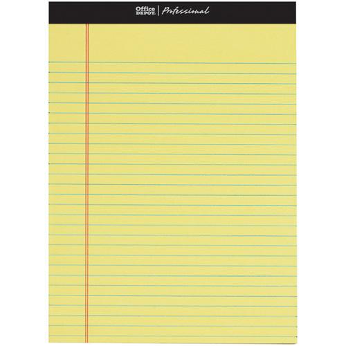 オフィスデポ リーガルパッド レターサイズ プロフェッショナル 9mm罫 イエロー 50枚 143446 1パック(3冊)