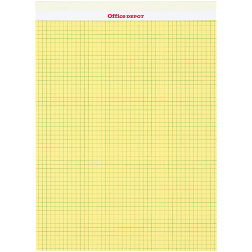 オフィスデポ リーガルパッド レターサイズ イエロー 方眼(5mm) 50枚 149297 1パック(10冊)