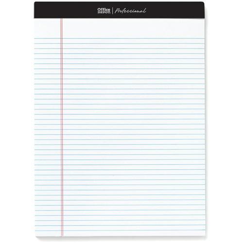 オフィスデポ リーガルパッド レターサイズ プロフェッショナル 6.3mm罫 ホワイト 100枚 147420 1パック(4冊)