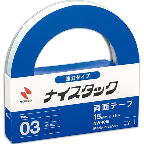 ニチバン ナイスタック 両面テープ 強力タイプ 大巻 15mm×18m NW-K15 1巻