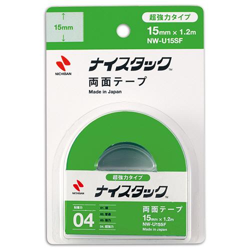 ニチバン ナイスタック 両面テープ 超強力タイプ 小巻 15mm×1.2m NW-U15SF 1巻