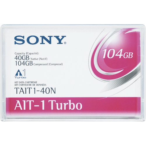 ソニー AIT-1 Turboデータカートリッジ 40GB(圧縮時 104GB) TAIT1-40N 1巻