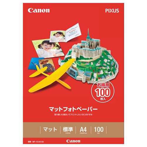 キヤノン マットフォトペーパー 上質紙タイプ MP-101A4100 A4 7981A006 1冊(100枚)