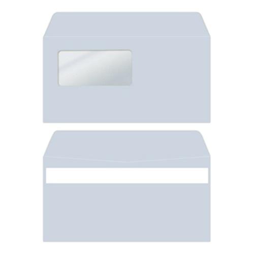 弥生 窓付封筒(アクア)シールのり付き W217×H109mm 333107 1箱(200枚)