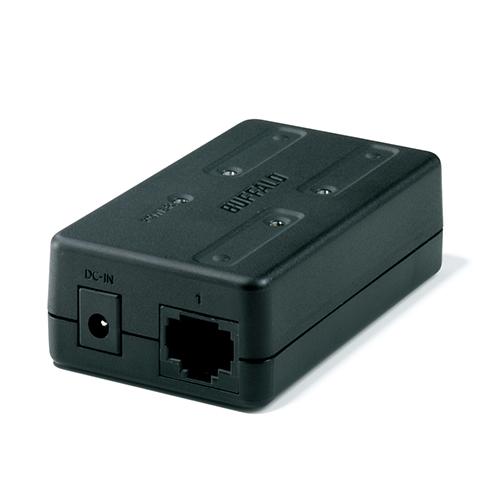バッファロー 10/100M対応 スイッチングハブ 3ポート ブラック LSW-TX-3EP/CUB 1台