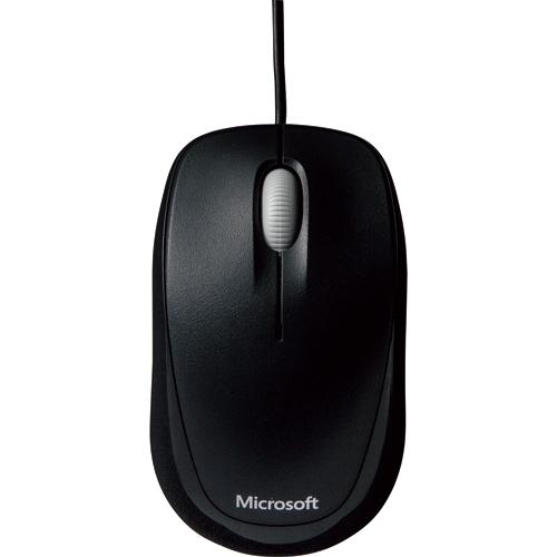 マイクロソフト Compact Optical Mouse 500 USBワイヤード セサミブラック U81-00084 1個