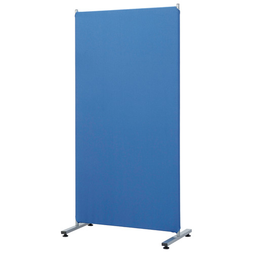 ナカバヤシ 簡易パーティション クロス張り 幅800×奥行420×高さ1600mm ブルー PTS-1680B 1台