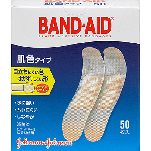 ジョンソン・エンド・ジョンソン バンドエイド 肌色タイプ スタンダードサイズ 1箱(50枚)