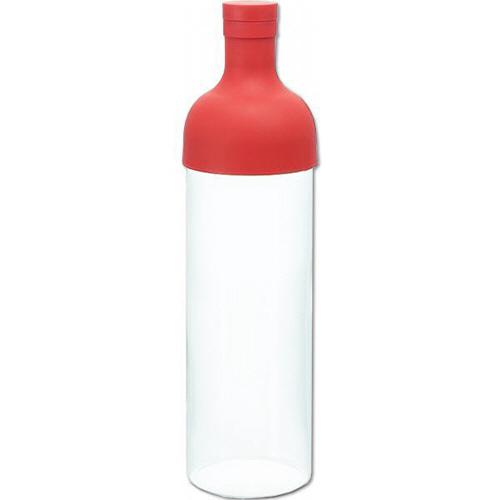 ハリオグラス フィルターインボトル 750ml レッド FIB-75-R 1本