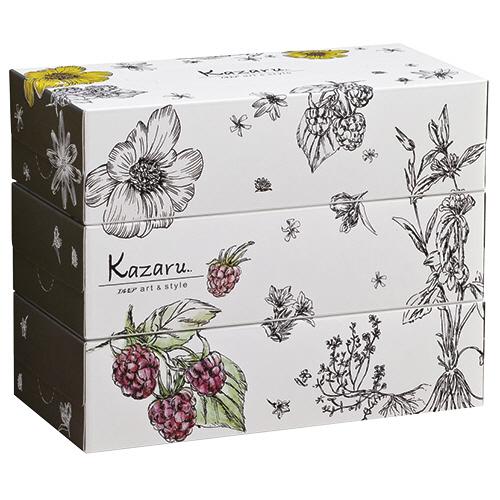 カミ商事 エルモアティシュ― Kazaruモノトーン 160組/箱 1パック(3箱)