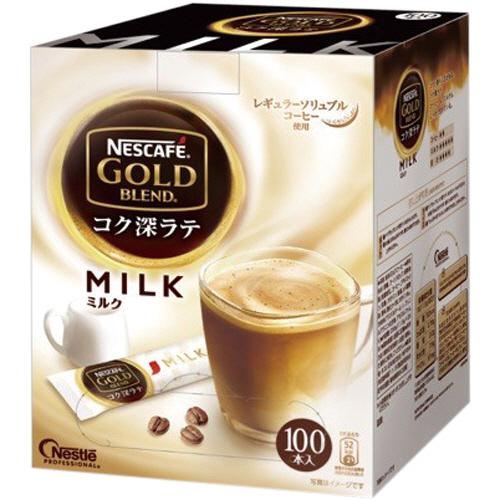 ネスレ ネスカフェ ゴールドブレンド コク深ラテ ミルク 1箱(100本)