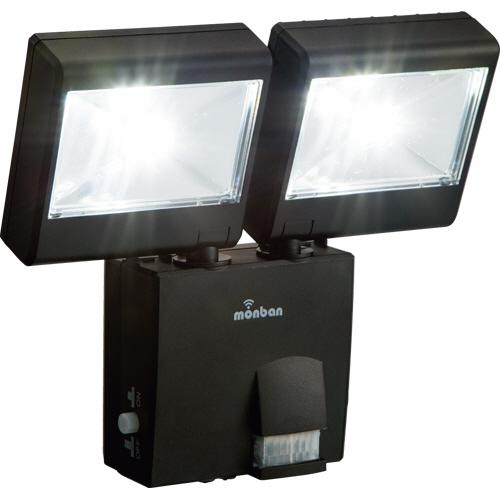 オーム電機 LEDセンサーライト (乾電池式 2灯2W) LS-B224D-K 1台