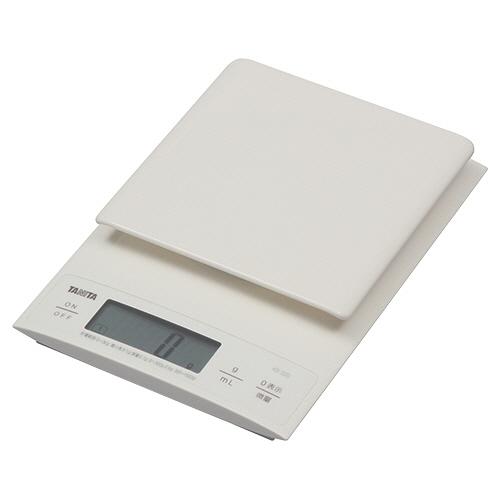 タニタ デジタルクッキングスケール 3kg ホワイト KD-320-WH 1台