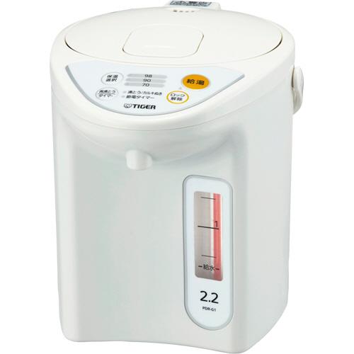 タイガー魔法瓶 マイコン電動ポット 2.2L ホワイト PDR-G221W 1台