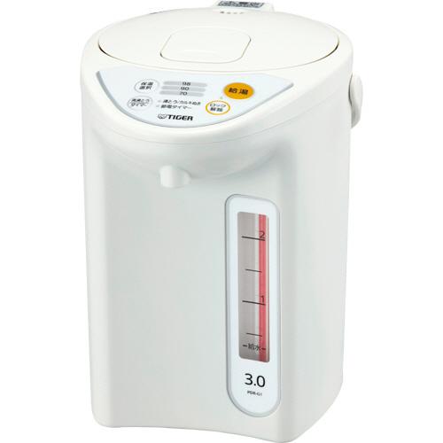 タイガー魔法瓶 マイコン電動ポット 3L ホワイト PDR-G301W 1台