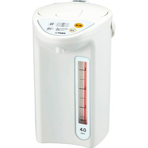 タイガー魔法瓶 マイコン電動ポット 4L ホワイト PDR-G401W 1台