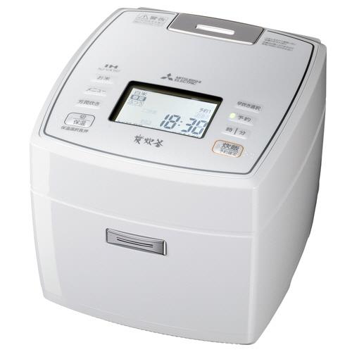 三菱電機 IHジャー炊飯器 備長炭 炭炊釜 5.5合炊き ピュアホワイト NJ-VX107-W 1台