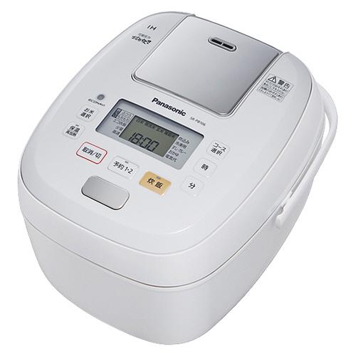 パナソニック 可変圧力IHジャー炊飯器 可変圧力おどり炊き 5.5合炊き ホワイト SR-PB106-W 1台