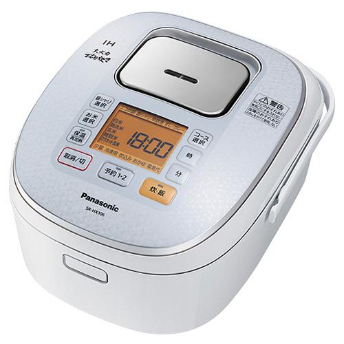 パナソニック IHジャー炊飯器 大火力おどり炊き 1升炊き スノーホワイト SR-HX186-W 1台
