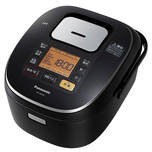 パナソニック IHジャー炊飯器 5.5合炊き ブラック SR-HB106-K 1台