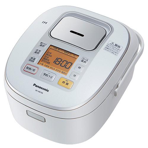 パナソニック IHジャー炊飯器 5.5合炊き ホワイト SR-HB106-W 1台