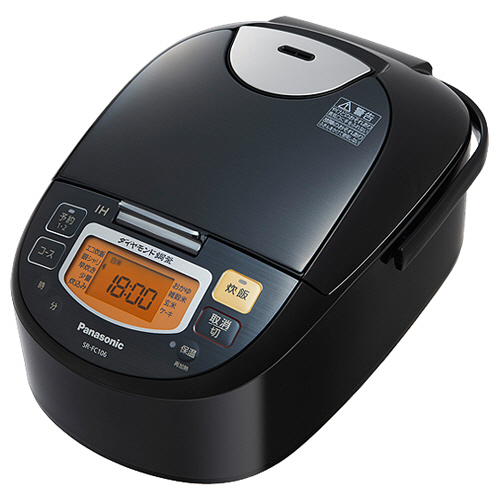 パナソニック IHジャー炊飯器 5.5合炊き ステンレスブラック SR-FC106-K 1台