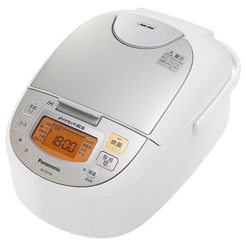 パナソニック IHジャー炊飯器 5.5合炊き シャンパンホワイト SR-FD106-W 1台