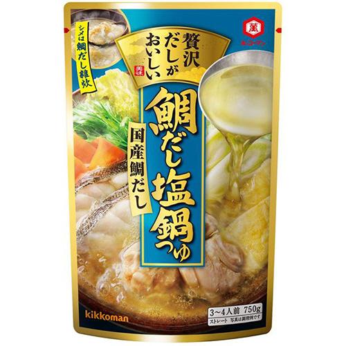 キッコーマン 贅沢だしがおいしい 鯛だし塩鍋つゆ 750g 1個
