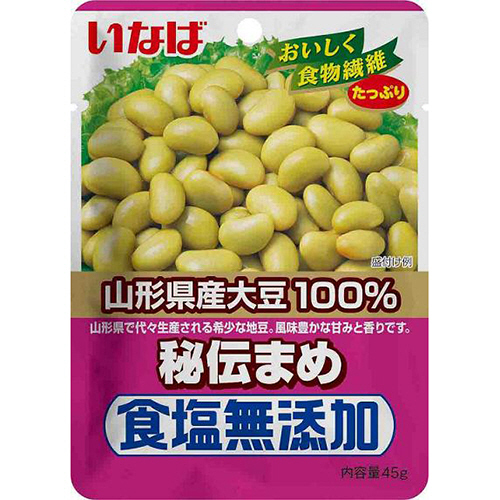 いなば食品 食塩無添加秘伝豆 45g 1個