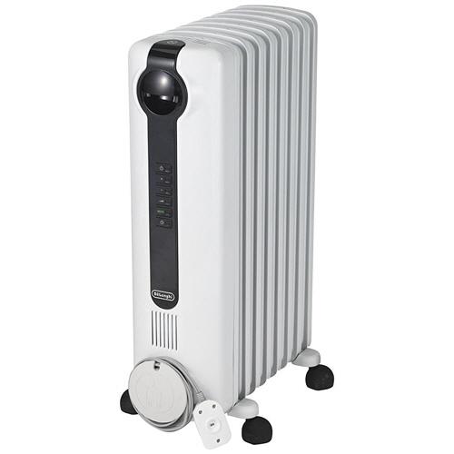 デロンギ オイルヒーター デジタルベーシックモデル ピュアホワイト+ブラック JRE0812 1台
