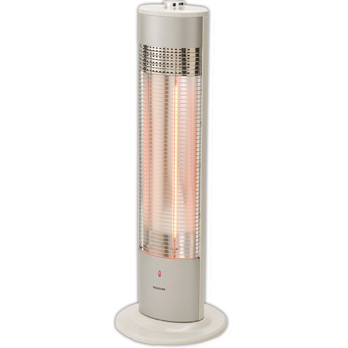 コイズミ 遠赤電気ストーブ(カーボンヒーター) ホワイト KKH-0961/W 1台