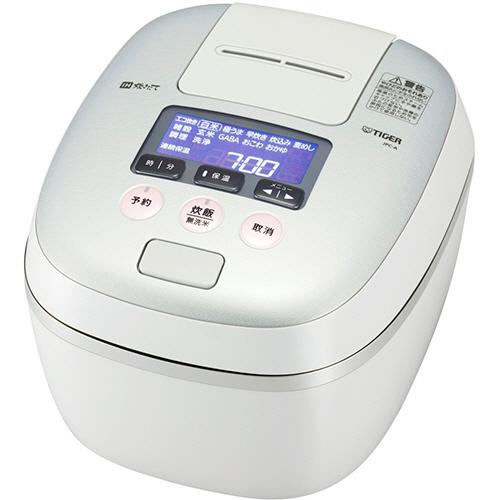 タイガー魔法瓶 圧力IH炊飯ジャー 熱流&熱封土鍋コーティング 5.5合炊き ホワイトグレー JPC-A100-WH 1台