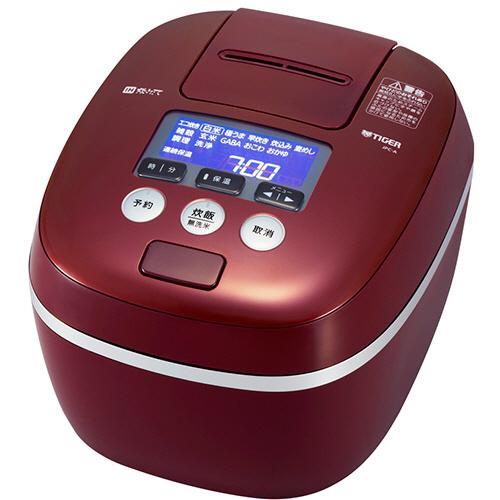 タイガー魔法瓶 圧力IH炊飯ジャー 熱流&熱封土鍋コーティング 1升炊き バーガンディ JPC-A180-RB 1台