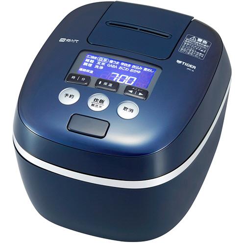 タイガー魔法瓶 圧力IH炊飯ジャー 熱流&熱封土鍋コーティング 1升炊き ブルーブラック JPC-A180-KA 1台