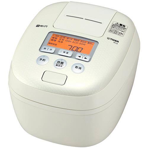 タイガー魔法瓶 圧力IH炊飯ジャー 熱封土鍋コーティング 5.5合炊き ホワイト JPC-B100-W 1台