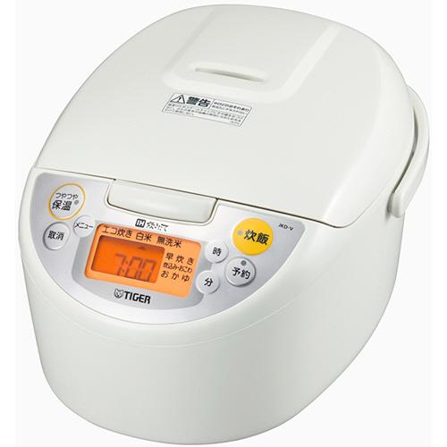 タイガー魔法瓶 IH炊飯ジャー 5.5合炊き ホワイト JKD-V100-W 1台