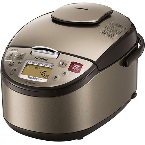 日立 圧力IH炊飯ジャー 黒厚鉄釜 5.5合炊き ライトブラウン RZ-WG10M-T 1台